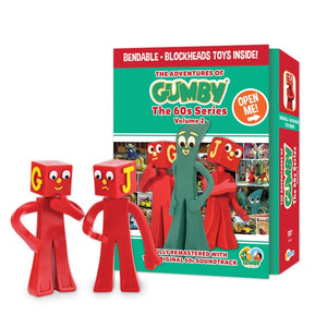 The Adventures of Gumby - 1960s Series, Vol. 2 DVD with 2 Bendable Blockheads Toys