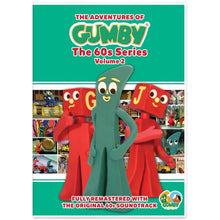 Load image into Gallery viewer, The Adventures of Gumby - 1960s Series, Vol. 2 DVD with 2 Bendable Blockheads Toys