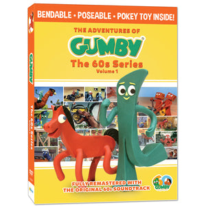 The Adventures of Gumby - 1960s Series, Vol. 1 DVD with Bendable Pokey Toy