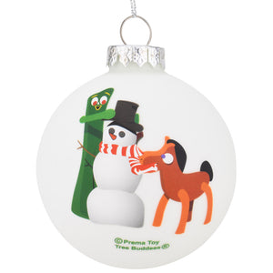 Gumby and Pokey Glass Ornament