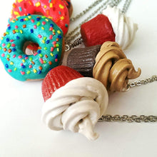 Load image into Gallery viewer, Red velvet Cookie earrings, Food Jewelry, Food charms , Cookies
