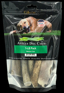 1-LB Pack Elk Antler Dog Chew - Mixed Medium Cuts
