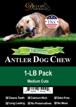 Load image into Gallery viewer, 1-LB Pack Elk Antler Dog Chew - Mixed Medium Cuts