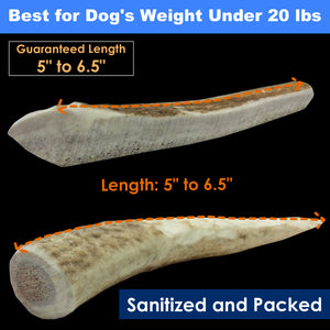 1-LB Pack Elk Antler Dog Chew - Mixed Small Cuts
