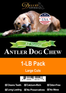 1-LB Pack Elk Antler Dog Chew - Mixed Large Cuts