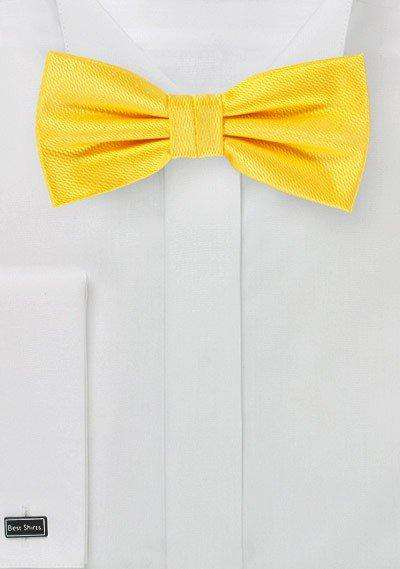 Daffodil Small Texture Bowtie - Men Suits