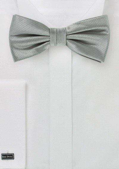 Formal Silver Small Texture Bowtie