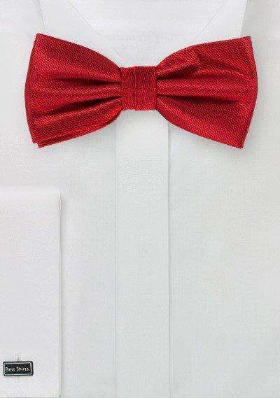 Cherry Red Small Texture Bowtie
