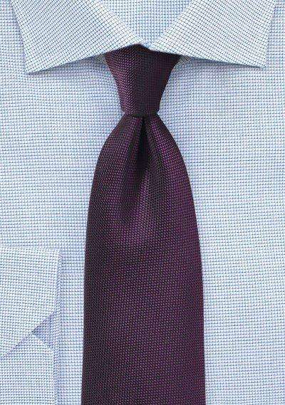 Grape Purple MicroTexture Necktie - Men Suits