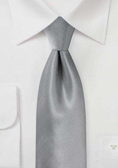 Sterling Silver Small Texture Necktie - Men Suits