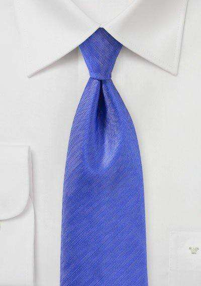 Marine Blue Herringbone Necktie - Men Suits