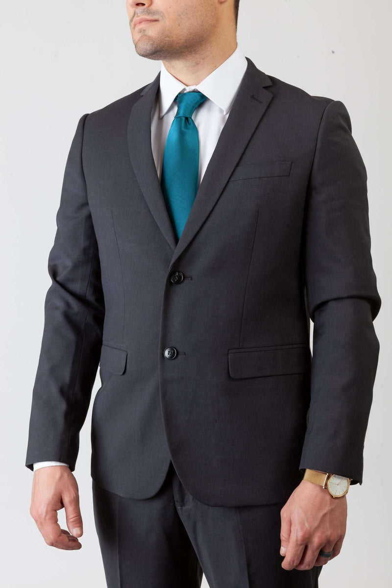 Copy of Charcoal Gray 2 Button Suit - Men Suits