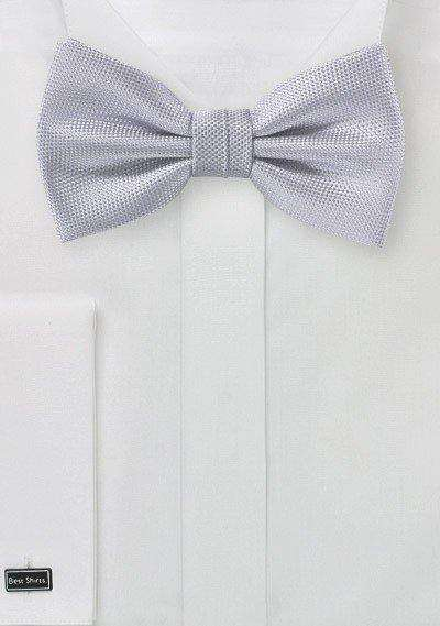 Silver MicroTexture Bowtie - Men Suits