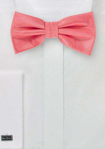 Coral Reef Small Texture Bowtie - Men Suits
