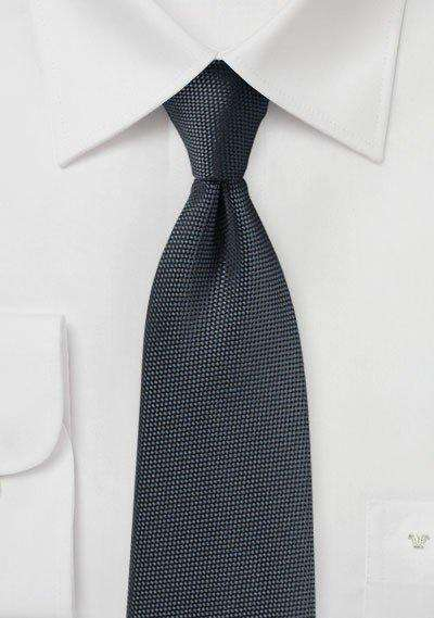Smoke Gray MicroTexture Necktie - Men Suits