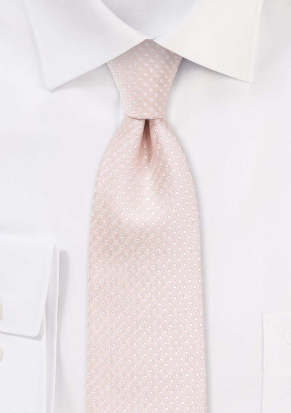 Blush Pink Pin Dot Necktie - Men Suits