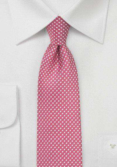 Dark Coral Pin Dot Necktie - Men Suits