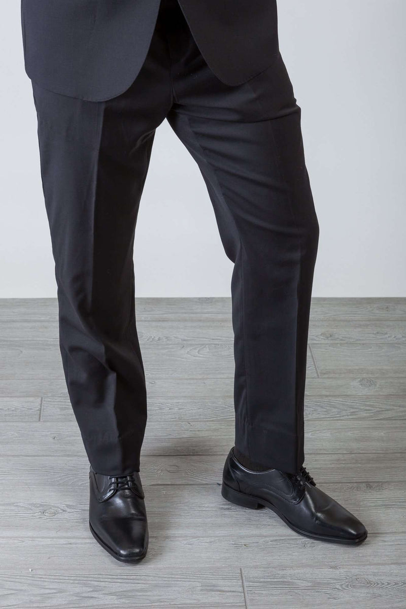 Black Wool Stretch Suit - Men Suits