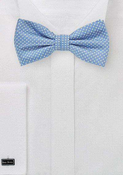 Periwinkle Pin Dot Bowtie