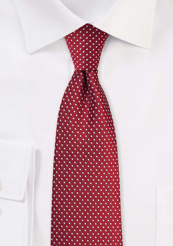 Cherry Pin Dot Necktie - Men Suits