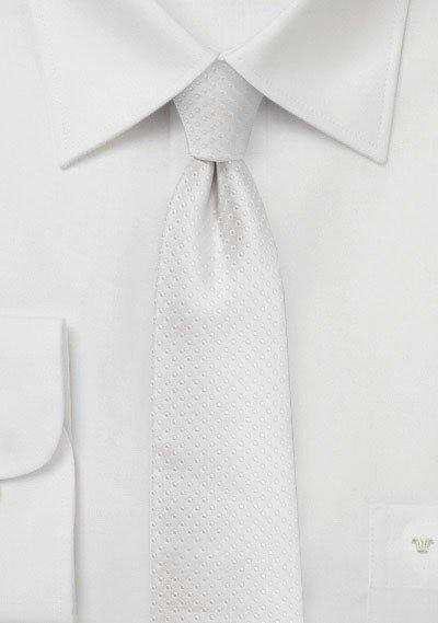 Ivory Pin Dot Necktie - Men Suits