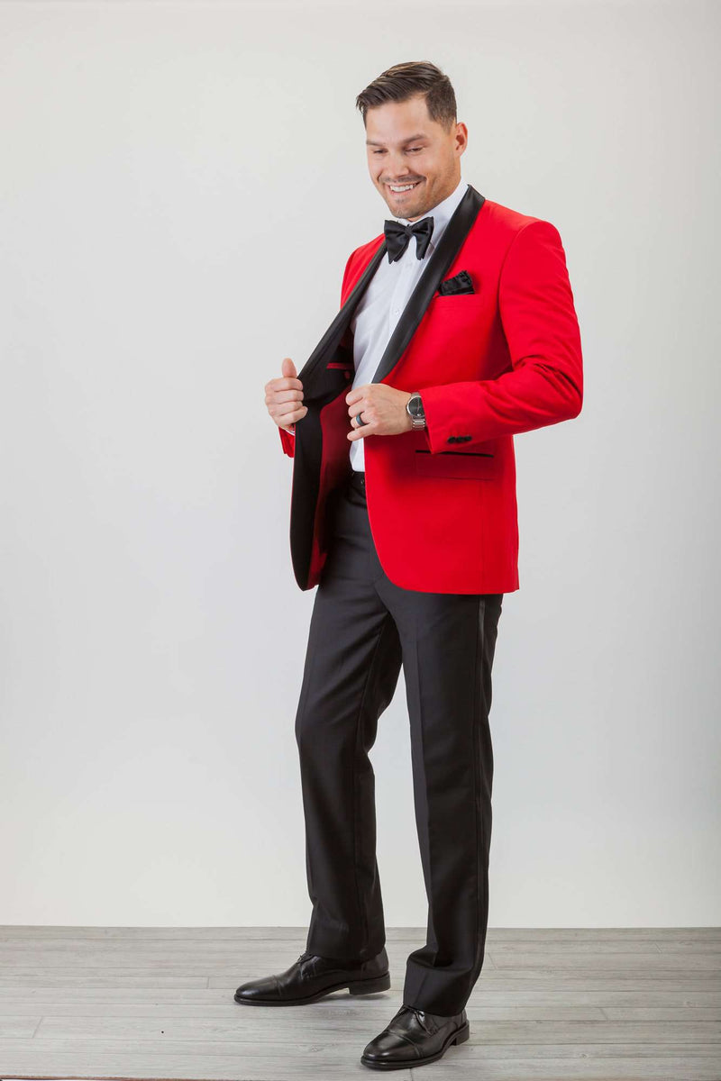 Red Shawl Lapel Tuxedo - Men Suits