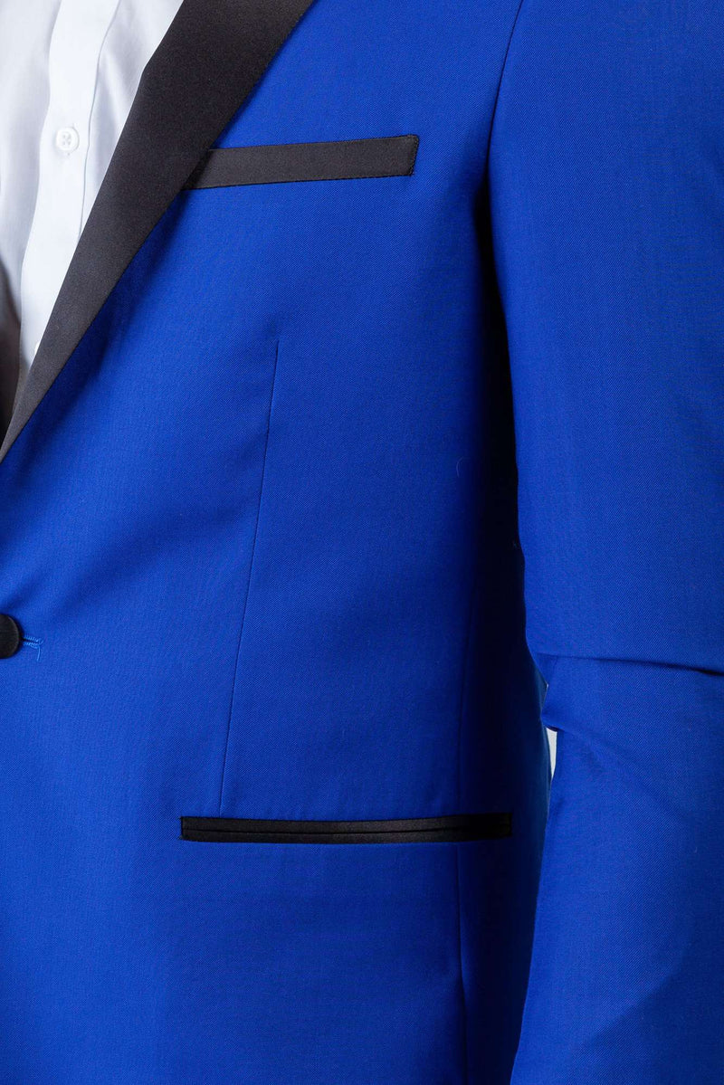 Royal Blue Peak Lapel Tuxedo - Men Suits