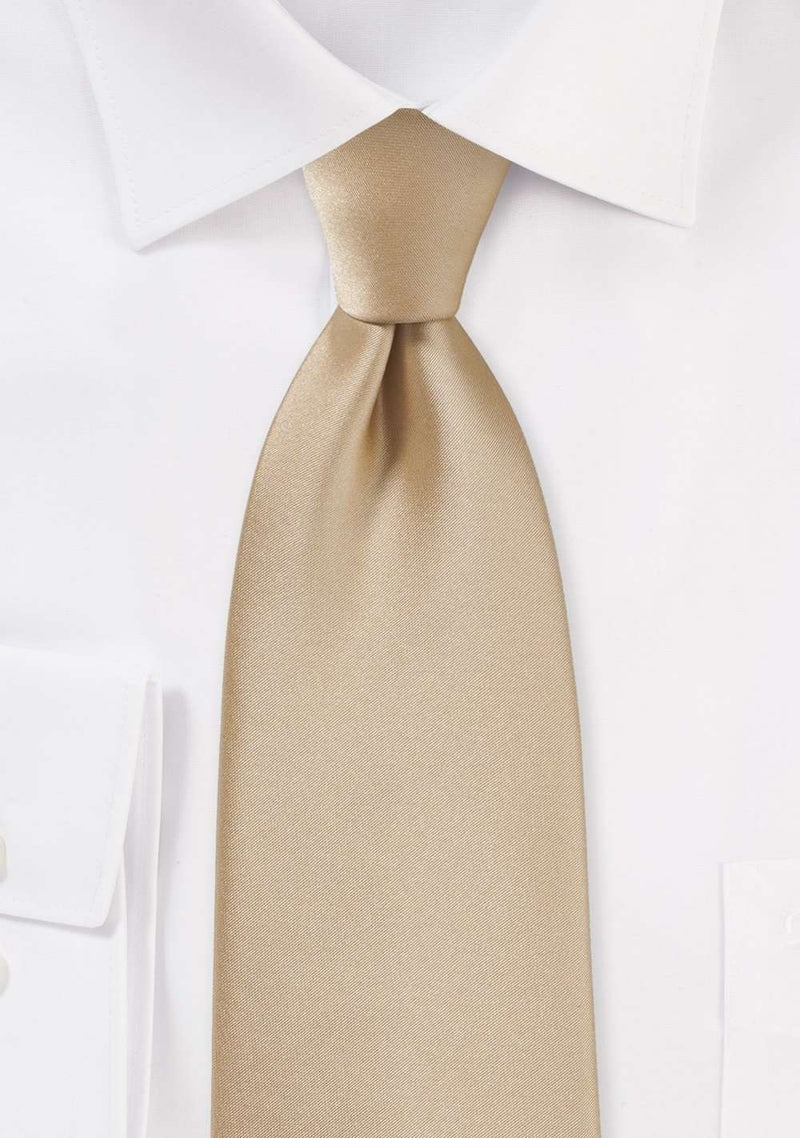 Oatmeal Solid Necktie - Men Suits