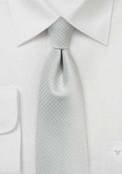 Silver Pin Dot Necktie - Men Suits