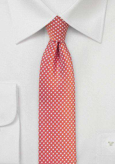 Coral Pin Dot Necktie - Men Suits