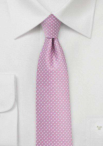 Orchid Pin Dot Necktie - Men Suits