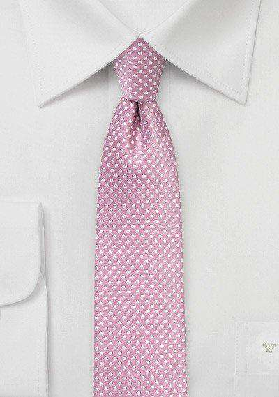 Dusty Rose Pin Dot Necktie - Men Suits