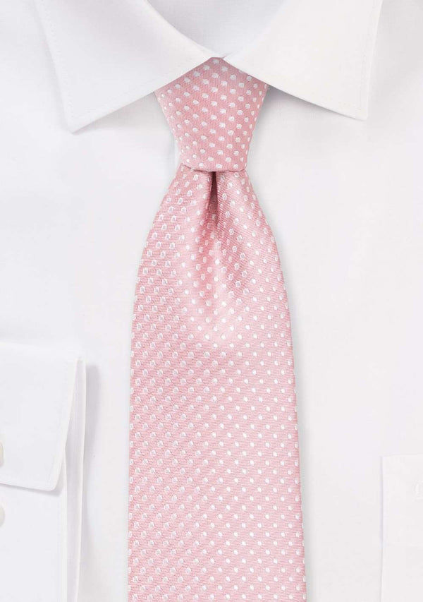 Soft Pink Pin Dot Necktie - Men Suits
