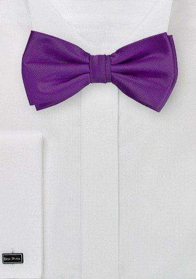 Grape Solid Bowtie