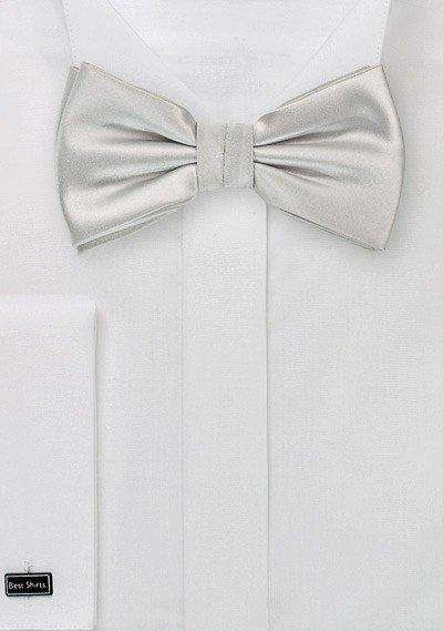 Light Silver Solid Bowtie