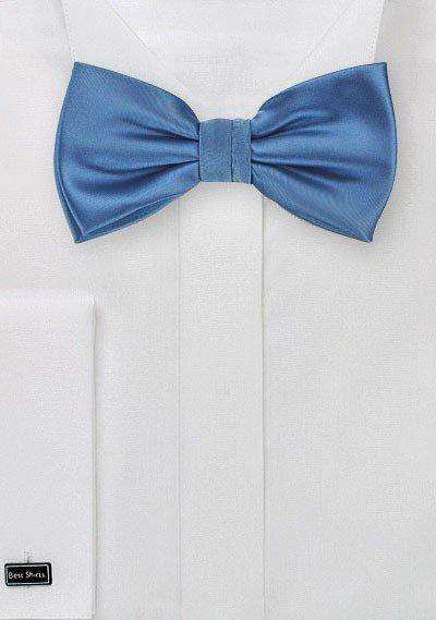 Steel Blue Solid Bowtie