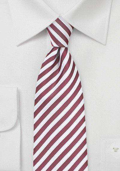 Deep Claret Summer Striped Necktie - Men Suits