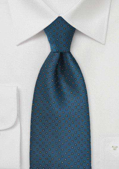 Peacock Polka Dot Necktie - Men Suits