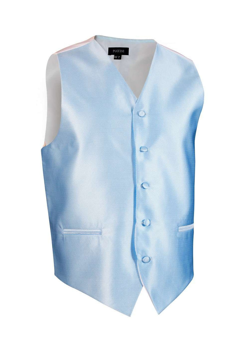Capri Blue Solid Vest - Men Suits