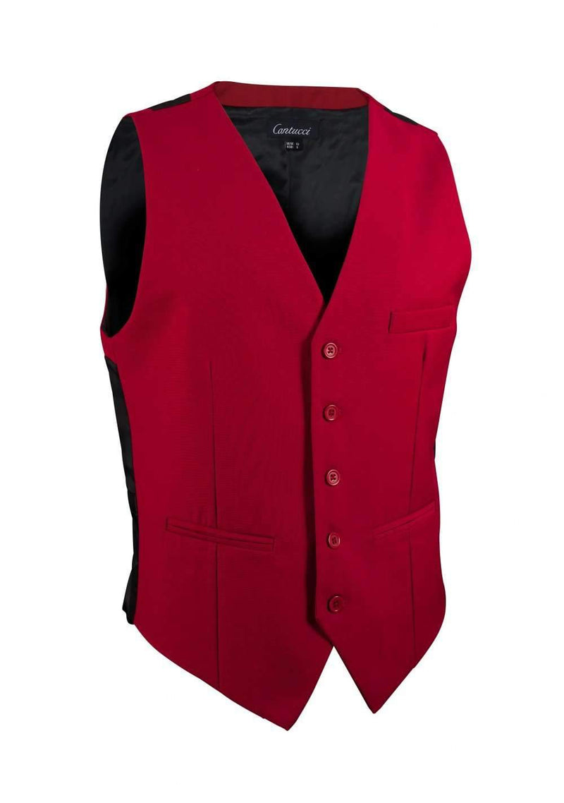 Cherry Solid Vest - Men Suits