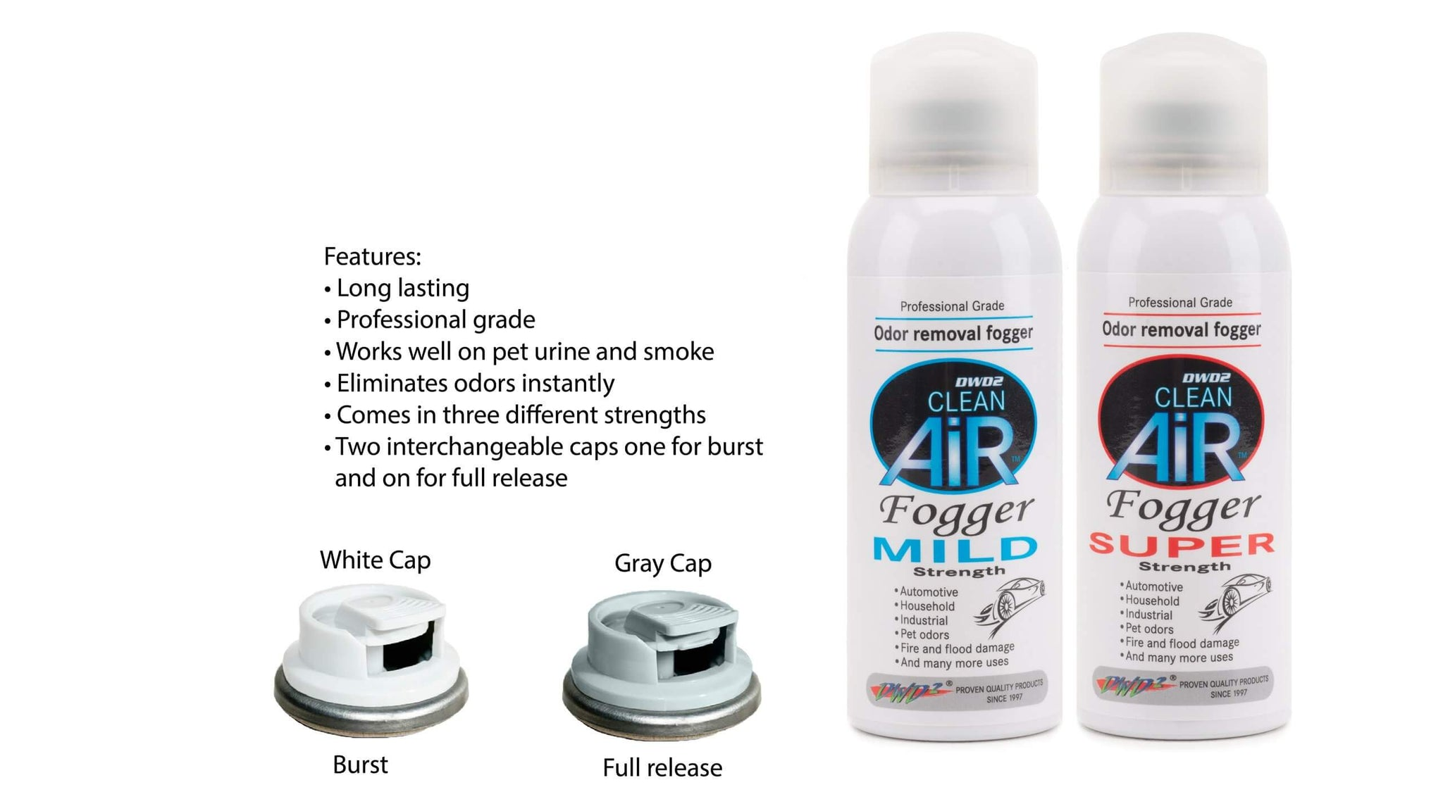 Clean Air Odor Removal Fogger  Super Strength 3 oz.