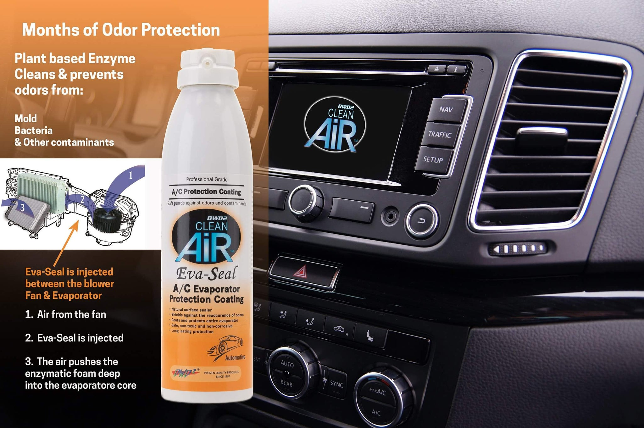 Clean & Seal -8 oz.  Clean Air Evaporator Cleaner and 8 oz. Eva-Seal Protection Coating