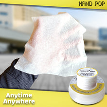 Load image into Gallery viewer, Hand Pop, Hand Wipes, Lemon Or Fresh Scent, 24 Single Use Wet Wipes Towelette, Alcohol Free Hand Wipes, Super Convenient Application, Hand Wipes Travel Size.