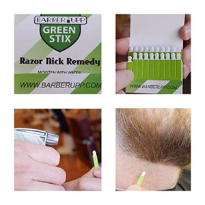 BARBERUPP Styptic Stick Shave Accessories (Green Stix, 3 Pack) Stops Bleeding For Razor Nicks For Men & Women - Sanitary and Great For Barbers or Personal