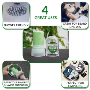 BarberUpp Shaving Soap, Smooth Thick Rich Shaving Foam, Shaving Cream For Men, Includes Convenient Storage Case.