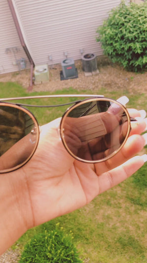 Round Polarized Circle with Brow-Bar Fashion  Frame Material: Metal  Lens Material: PC  Polarized Lens  100% UVA and UVB Protection  Premium Quality   One Size Fits Most