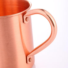 Load image into Gallery viewer, 100% Pure Copper Moscow Mule Mug 14 Ounce Solid Smooth without Inside Liner Mug Micro Mini Metal