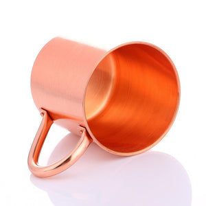 100% Pure Copper Moscow Mule Mug 14 Ounce Solid Smooth without Inside Liner Mug Micro Mini Metal