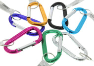 Carabiner with Pull Apart Quick Release Key Ring Key Chain Micro Mini Metal