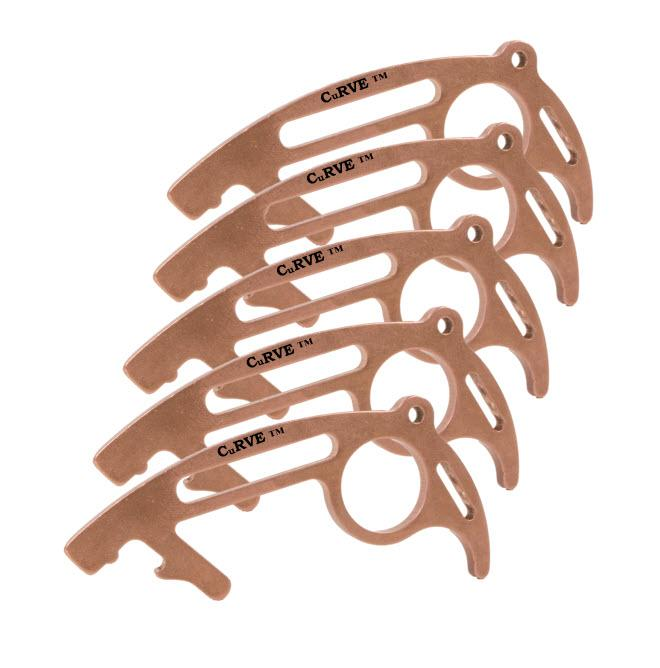 USA Made 100% Copper No Touch Tool CuRVE® Shield 5 Pack Tool Micro Mini Metal